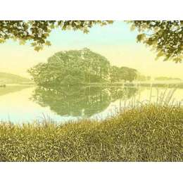 Kenneth Leech screenprint 'Calm Inlet'