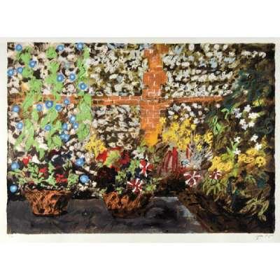 John Piper screenprint 'Terrace with Morning Glories'