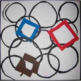 Sandra Blow RA silkscreen 'Squares in Orbit'