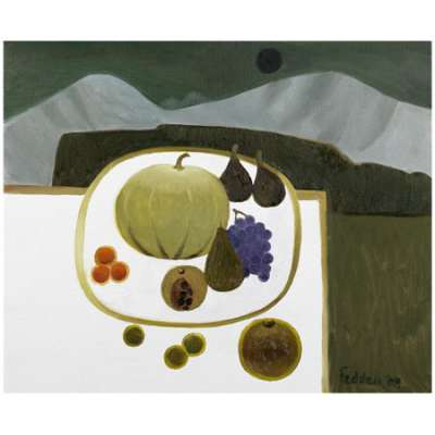 Mary Fedden RA limited edition giclée 'Fruit 2008'