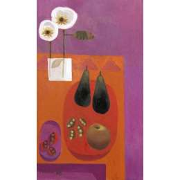Mary Fedden RA limited edition giclee 'Two Pears 2008'