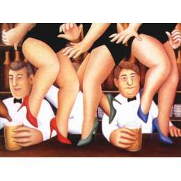 Beryl Cook colour reproduction giclee print 'Dancing on the Bar'