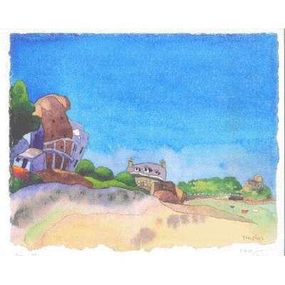 "Ian Rolls giclee print ""Grouville Bay"""