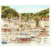 "Glyn Martin limited edition colour print ""St Aubin's Harbour"""