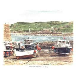 "Glyn Martin limited edition colour print ""Bonne Nuit Harbour"""
