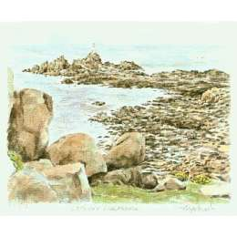 "Glyn Martin limited edition colour print ""La Corbiere"""