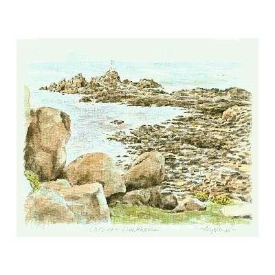 """Glyn Martin limited edition colour print """"La Corbiere"""""""