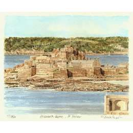 "Glyn Martin limited edition colour print ""Elizabeth Castle"""