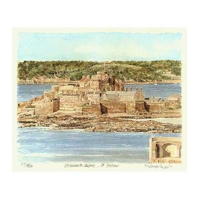 """Glyn Martin limited edition colour print """"Elizabeth Castle"""""""