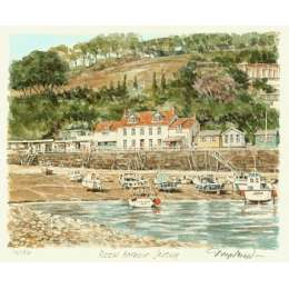 "Glyn Martin limited edition colour print ""Rozel Harbour"""