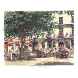 "Glyn Martin limited edition colour print ""The Royal Square"""