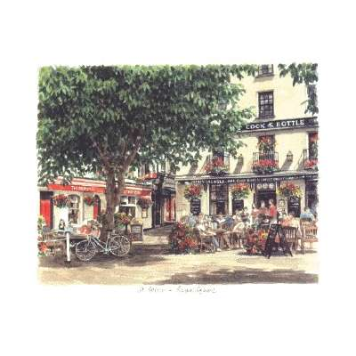 """Glyn Martin limited edition colour print """"The Royal Square"""""""
