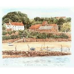 "Glyn Martin limited edition colour print ""St Brelade's Bay"""