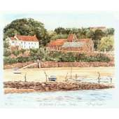 "Glyn Martin limited edition colour print ""St Brelade's Bay"""