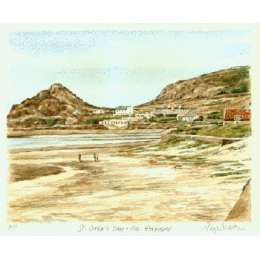 "Glyn Martin limited edition colour print ""St Ouen's Bay"""