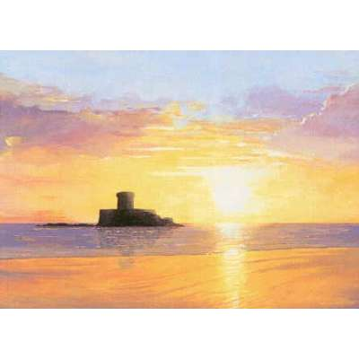 Robert Wolfenden limited edition colour print 'St Ouen's Bay'