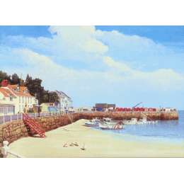 Robert Wolfenden limited edition colour print 'Rozel Bay'