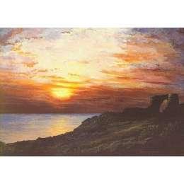 Robert Wolfenden limited edition colour print 'Grosnez Castle'