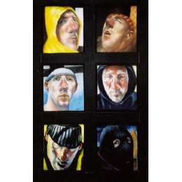 "Jason Butler oils on canvas ""Six Saints"""