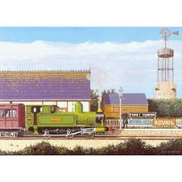 Robert Wolfenden limited edition colour print 'The Last Train'