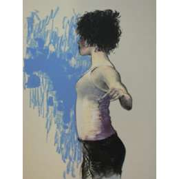 "Donald Hamilton Fraser silkscreen print ""Dancer In Class"""