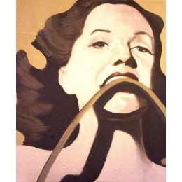 """Jason Butler oil on canvas """"Strongest Woman in the World"""""""