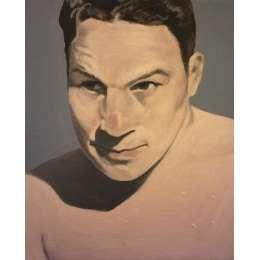 "Jason Butler oil on canvas ""Babyface"""