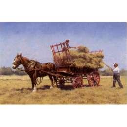 "Gerald Palmer colour reprodution print ""A Jersey Haycart"""