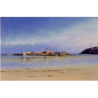 "Gerald Palmer colour reprodution print ""St Aubin's Fort"""
