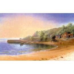 """Gerald Palmer colour reprodution print """"St Brelade's Bay"""""""
