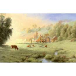 "Gerald Palmer limited edition print ""Queen's Valley Farm"""