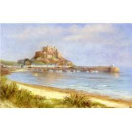 """Diana Bowen colour reproduction print """"Gorey Castle"""""""
