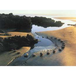 "Martin Hill photograph on canvas ""Stream Stone Circle"""