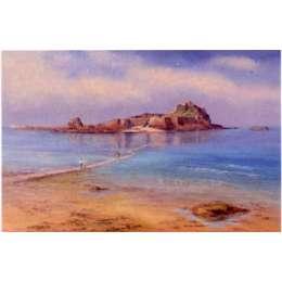 """Diana Bowen colour reproduction print """"Elizabeth Castle"""""""