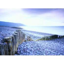 "Joe Cornish photo on canvas ""Beach with Breakers"""