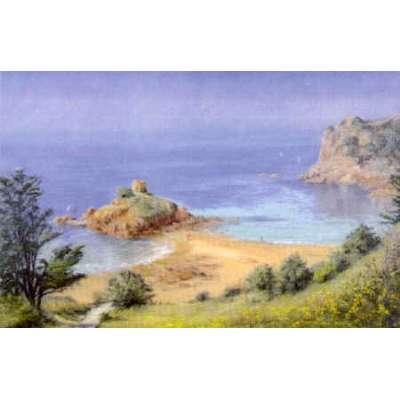 """Diana Bowen colour reproduction print """"Portelet Bay"""""""