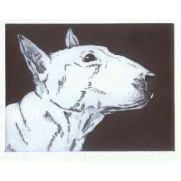 "Sonia Rollo signed limited edition etching ""Profile of Queenie"""