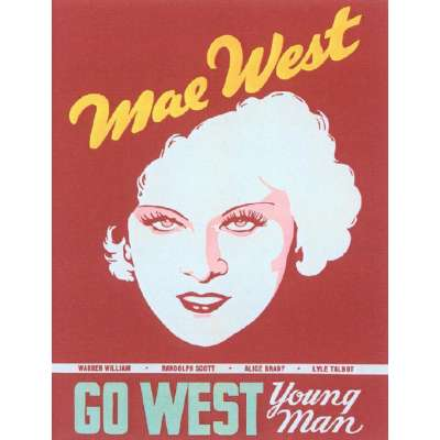"Poster printed on canvas ""Go West Young Man"""