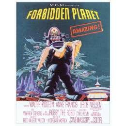 "Poster printed on canvas ""The Forbidden Planet"""