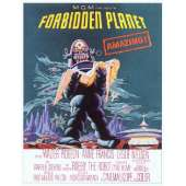 """Poster printed on canvas """"The Forbidden Planet"""""""