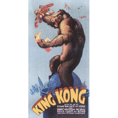 "Poster printed on canvas ""King Kong"""