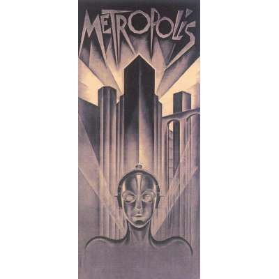 "Poster printed on canvas ""Metropolis"""