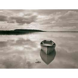 "Ron Rosenstock photo on canvas ""Boat Reflection, Lough Cara"""