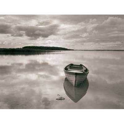 "Ron Rosenstock photo on canvas ""Boat Reflection, Lough Cara"""