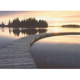 "Photo on canvas ""Boardwalk at Elk Island National Park"""