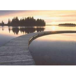 "Photo on canvas ""Boardwalk at Elk Island National Park"""
