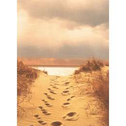 "Photo on canvas ""Footprints in the Sand"""