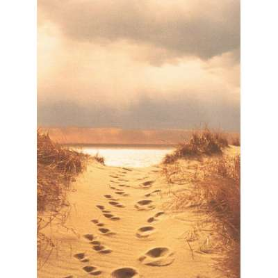 """Photo on canvas """"Footprints in the Sand"""""""