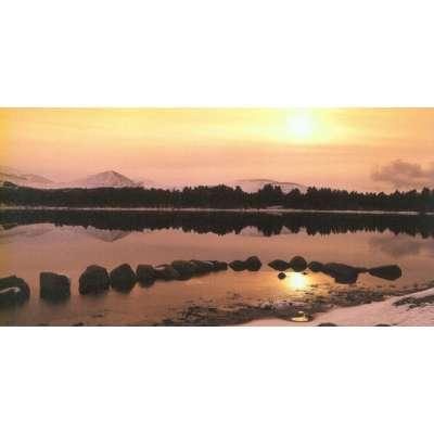 """Photo on canvas """"Loch Morlich, Highlands, Scotland"""""""