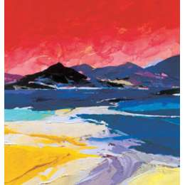 "Donald Hamilton Fraser silkscreen ""Beach at Gruinard"""